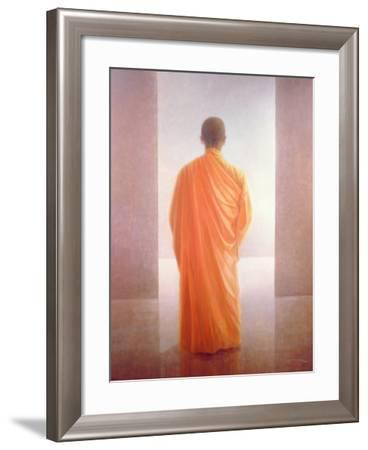 Young Monk, Back View, Vietnam-Lincoln Seligman-Framed Giclee Print
