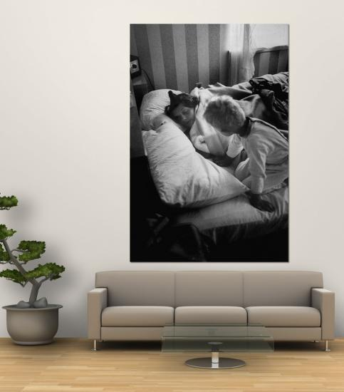 Young Mother Being Awakened by One of Her Sons-Mark Kauffman-Wall Mural