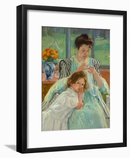 Young Mother Sewing, 1900-Mary Stevenson Cassatt-Framed Giclee Print