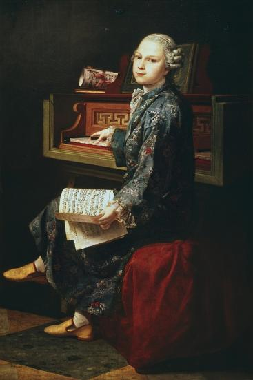Young Musician at the Harpsicord--Giclee Print