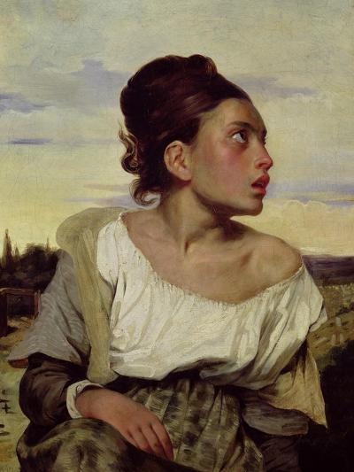 Young Orphan in the Cemetery, 1824-Eugene Delacroix-Giclee Print