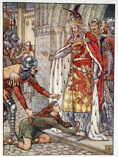 'Young Owen Appeals to the King', 1911-Unknown-Giclee Print