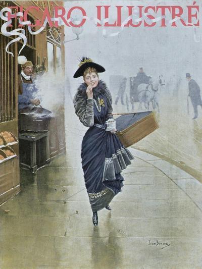 Young Parisian Hatmaker, Cover Illustration of 'Figaro Illustre', February 1892-Jean B?raud-Giclee Print