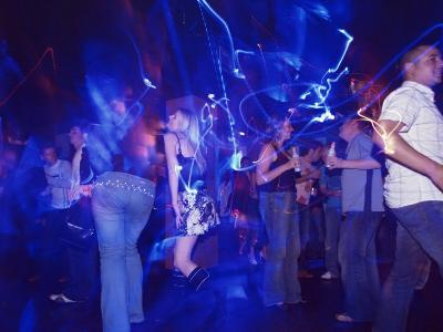 Young People at the Trendy Cube Nightclub, Glasgow, Scotland, United Kingdom-Yadid Levy-Photographic Print