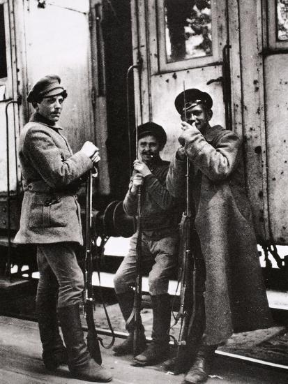 Young Red Guards, Russia, c1917-c1923(?)-Unknown-Photographic Print