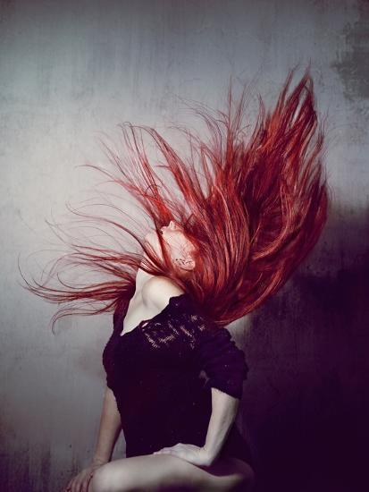 Young Redhead Throwing Head Back-Vania Stoyanova-Photographic Print