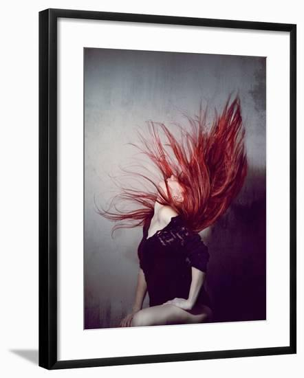 Young Redhead Throwing Head Back-Vania Stoyanova-Framed Photographic Print