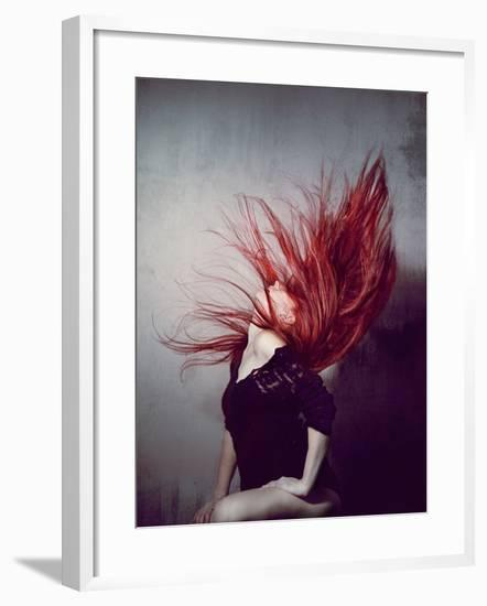 Young Redhead Throwing Head Back-Vania Stoyanova-Framed Photographic Print