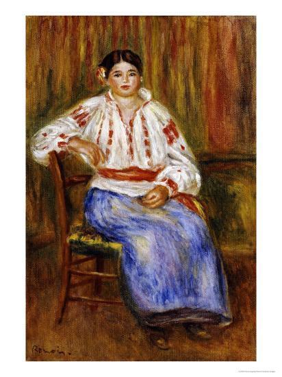 Young Romanian, 1914-Pierre-Auguste Renoir-Giclee Print