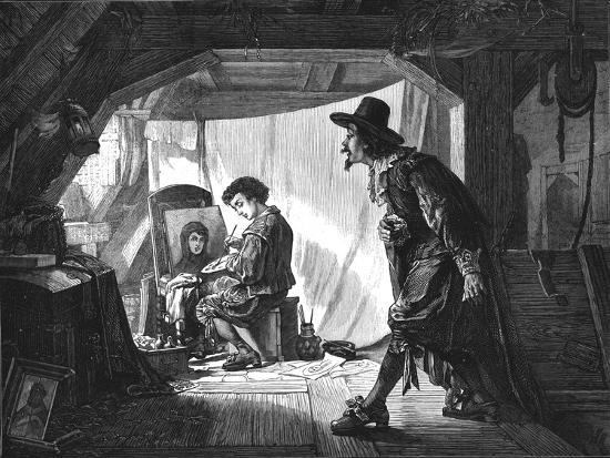 'Young Rubens surprised by his master, Van Oort', (1875)-Unknown-Giclee Print