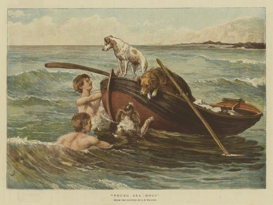 Young Sea Dogs-Samuel Edmund Waller-Giclee Print