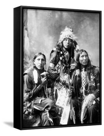 Young Sioux Men, 1899--Framed Art Print