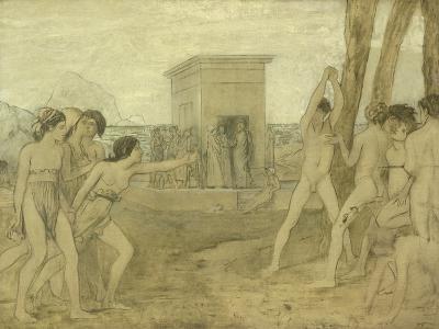 Young Spartan Girls Challenging Boys, C.1860-Edgar Degas-Giclee Print