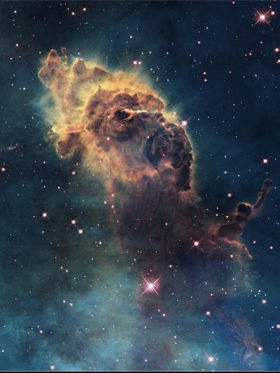Young Stars Flare in the Carina Nebula--Photographic Print