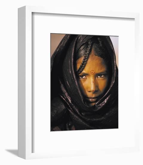 Young Taureg Woman Niger-Jean-Luc Manaud-Framed Art Print