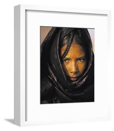 Young Taureg Woman Niger-Jean-Luc Manaud-Framed Art Print