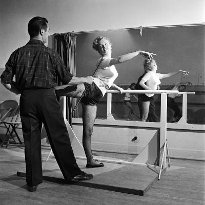 Young Upcoming Starlet Marilyn Monroe Practicing in Dance Class-J^ R^ Eyerman-Premium Photographic Print