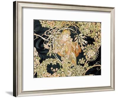 Young Woman, 1898-99-Alphonse Mucha-Framed Giclee Print