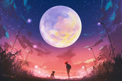 https://imgc.artprintimages.com/img/print/young-woman-and-dog-at-beautiful-night-with-huge-moon-above-illustration-painting_u-l-q1anwrg0.jpg?p=0