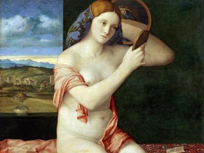 Young Woman at Her Toilette-Giovanni Bellini-Giclee Print