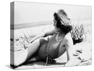 Young Woman at the Beach, Ca. 1938