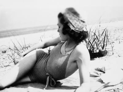 Young Woman at the Beach, Ca. 1938--Photographic Print