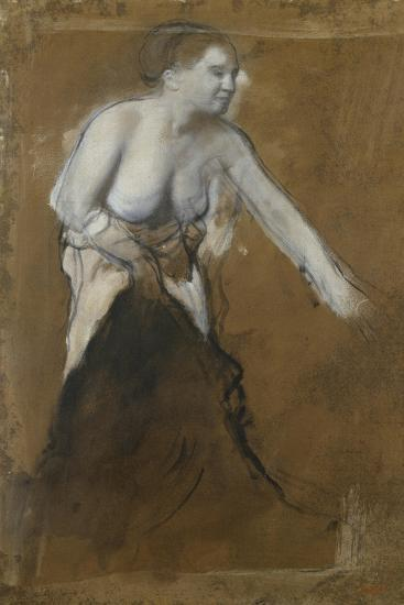 Young Woman, Half-Undressed, 1866-68-Edgar Degas-Giclee Print