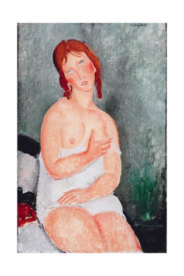 Young Woman in a Shirt, 1818-Amedeo Modigliani-Giclee Print