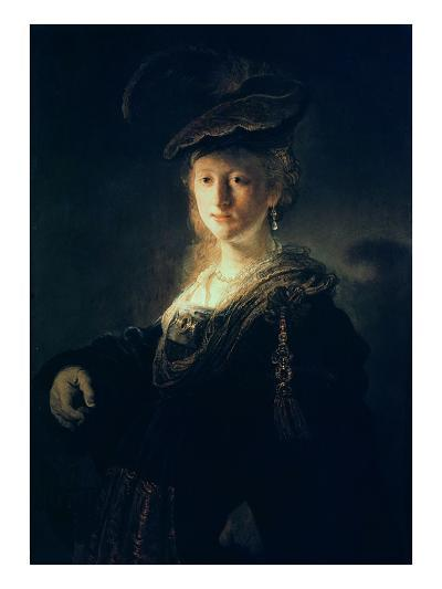 Young Woman in Fancy Dress-Rembrandt van Rijn-Giclee Print