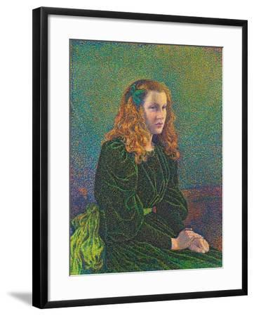 Young Woman in Green Dress, 1893-Theo van Rysselberghe-Framed Giclee Print