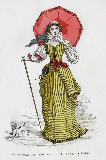 Young Woman in Summer Fashion, 17th Century (1882-188)--Giclee Print