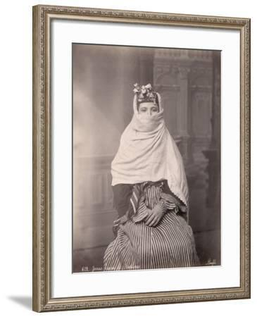 Young Woman in Traditional Middle Eastern Dress--Framed Photographic Print