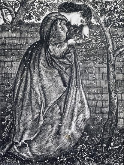 Young Woman Leaning Against a Wall-Edward Burne-Jones-Giclee Print