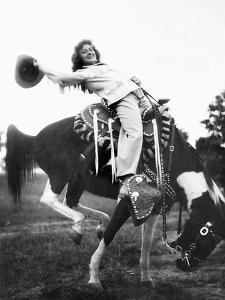 Young Woman on Phony Pony, Ca. 1940