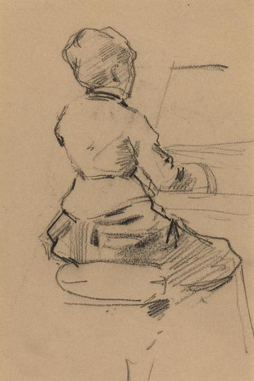 Young Woman Seated at a Piano [verso], c.1890-Jean Louis Forain-Giclee Print