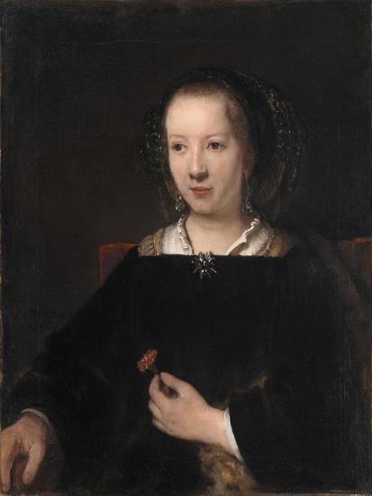 Young Woman with a Carnation, 1656-Willem Drost-Giclee Print