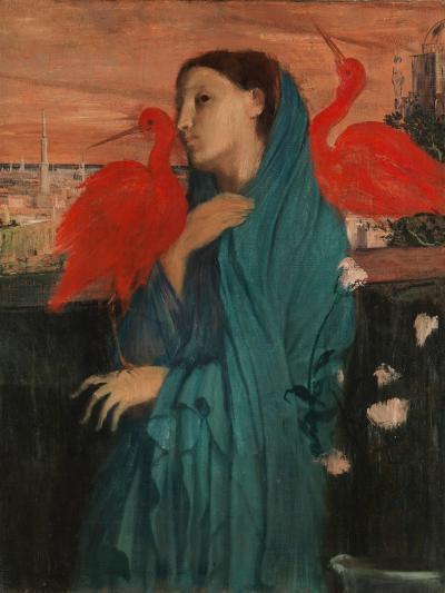 Young Woman with Ibis, 1860-62-Edgar Degas-Giclee Print