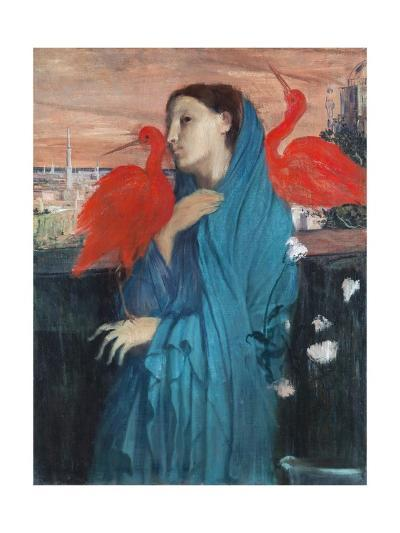 Young Woman with Ibis-Edgar Degas-Giclee Print