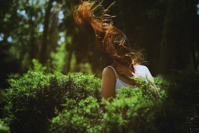 Young Woman with Long Hair-Carolina Hernandez-Photographic Print