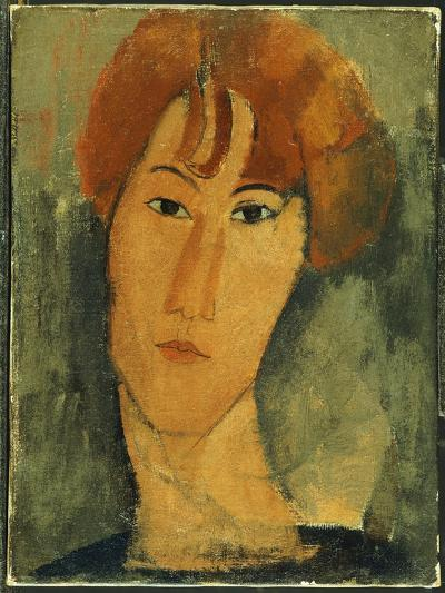 Young Woman with Red Hair Wearing a Collar-Amedeo Modigliani-Giclee Print