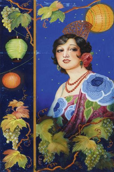 Young Woman with Shawl-Ramón José Izquierdo y Garrido-Giclee Print