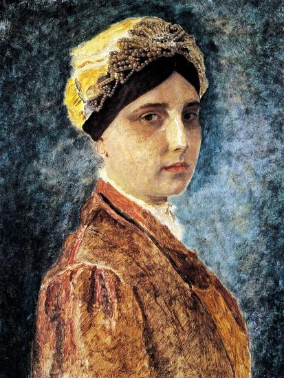 Young Woman with Sterntichel-Isidor Kaufmann-Art Print