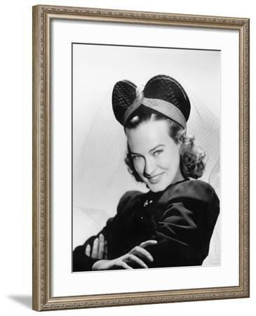 Young Woman with Veiled Hat--Framed Photo