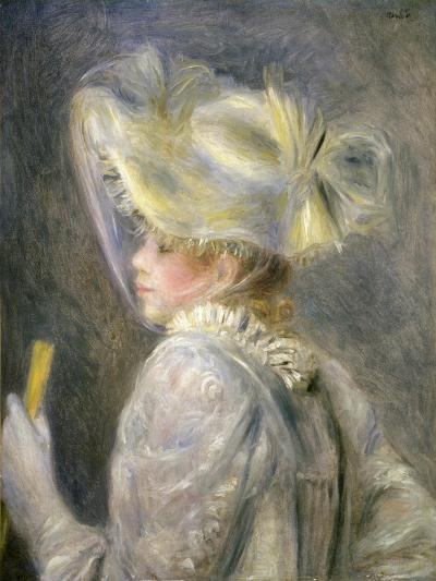 Young Woman with White Hat-Pierre-Auguste Renoir-Giclee Print