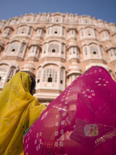 Young Women in Traditional Dress, Palace of the Winds, Jaipur, Rajasthan, India-Doug Pearson-Photographic Print