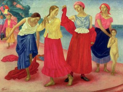 Young Women on the Volga, 1915-Kuzma Sergievitch Petrov-Vodkin-Giclee Print