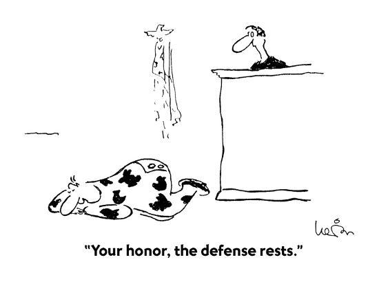 """""""Your honor, the defense rests."""" - Cartoon-Arnie Levin-Premium Giclee Print"""