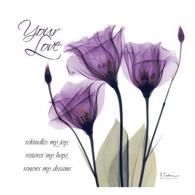 Your Love, Purple Tulip-Albert Koetsier-Art Print