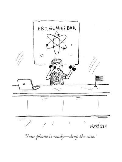"""""""Your phone is ready?drop the case."""" - Cartoon-David Sipress-Premium Giclee Print"""