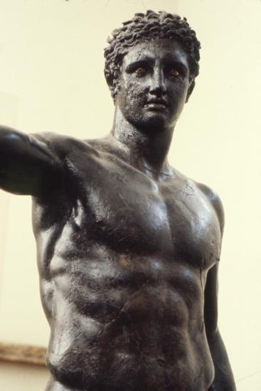Youth from Antikyther, Bronze found in pieces in sea of Antikythera, c340 BC-Unknown-Giclee Print